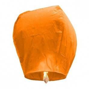 Oranžový Lietajúci lampión ECO - trieda B