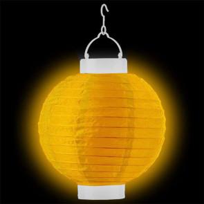 1ks Dekoratívny LED svietiaci lampión 20cm – žltý + AAA batérie zadarmo