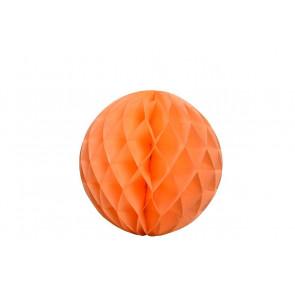 Dekoratívna Papierová guľa Honeycomb 20cm oranžová
