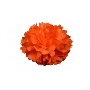Papierový Pompom 50cm, oranžový