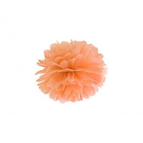 Papierový Pompón 35cm, svetlý oranžový