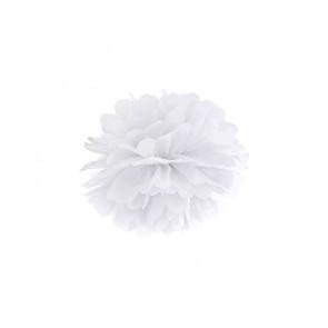 1ks Papierový Pompón - biely