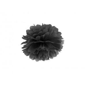 Papierový Pompón 35cm, čierny