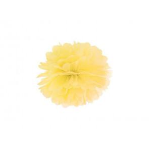 1ks Papierový Pompón - žltý