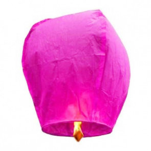 PREMIUM KVALITA Ružový Lietajúci lampión Standard