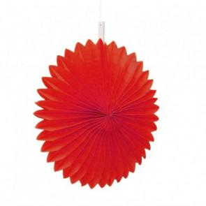 Papierová Rozeta 20cm červená
