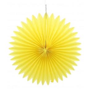 Papierová Rozeta 20cm žltá