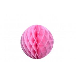 Dekoratívna Papierová guľa Honeycomb 20cm ružová