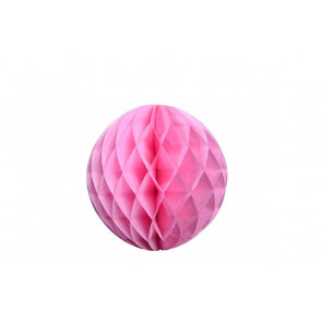 Dekoratívna Papierová guľa Honeycomb 30cm ružová