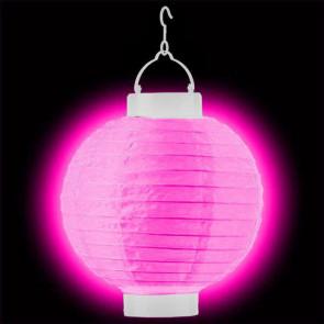 1ks Dekoratívny LED svietiaci lampión 20cm – ružový