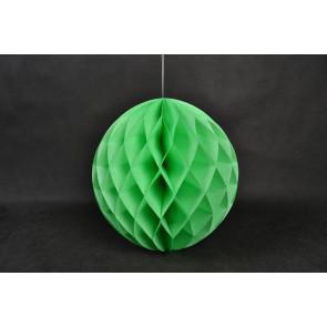 Dekoratívna Papierová guľa Honeycomb 20cm zelená