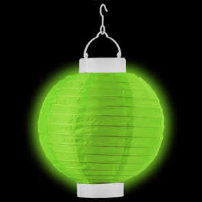 1ks Dekoratívny LED svietiaci lampión 20cm – zelený + AAA batérie zadarmo