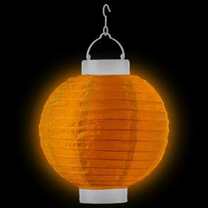 1ks Dekoratívny LED svietiaci lampión 20cm – oranžový + AAA batérie zadarmo