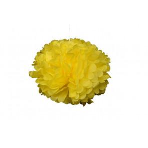 Papierový Pompom 40cm, žltý